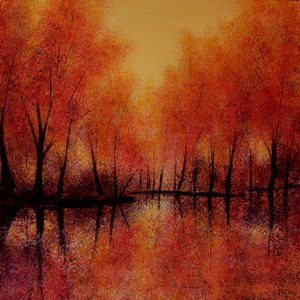 Autumn Reflections - SOLD Kirstin Mccoy Painting Oil on Canvas