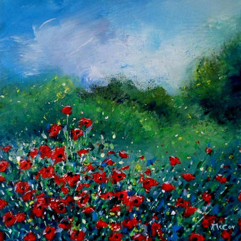 Summer Meadow - SOLD Kirstin Mccoy Painting Oil on Canvas