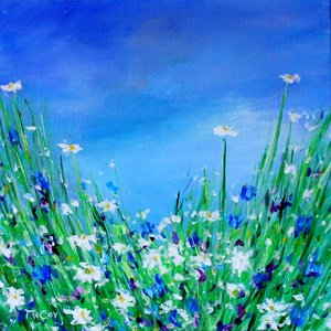 Wild Flowers - SOLD Kirstin Mccoy Painting Oil on Canvas