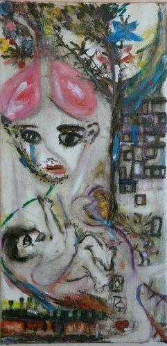 Nouveau-Né / New Born Child Lumina Wang Malerei Öl