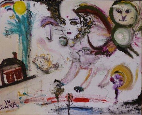 Diva Lumina Wang Malerei Öl