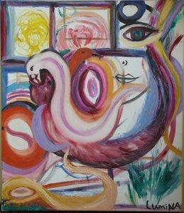 Ventre de Serpents/ Belly of Serpents Lumina Wang Malerei Öl