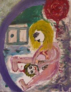 Le Duel Lumina Wang Malerei Öl