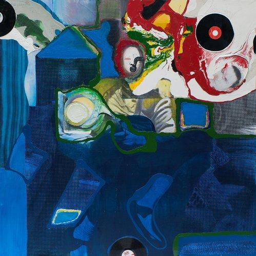 Halleluhwah Klaus Killisch Painting Acrylic, Collage on Canvas