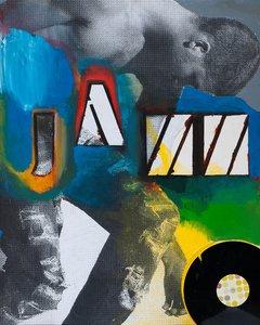 JAZZ Klaus Killisch Painting Acrylic, Oil, Collage on Canvas