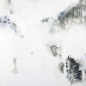 Desert island disk Gina Parr Painting Acrylic, Oil, Charcoal on Canvas