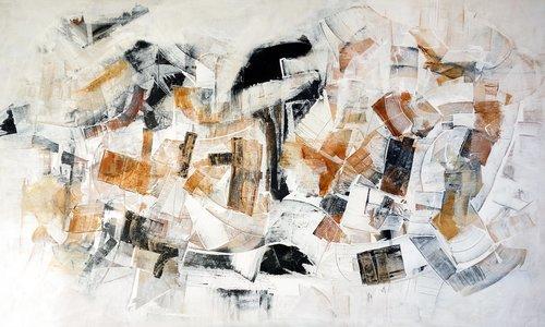 Hidden Cities n° 6 Francesco D'Adamo Malerei Acryl, Öl auf Leinwand