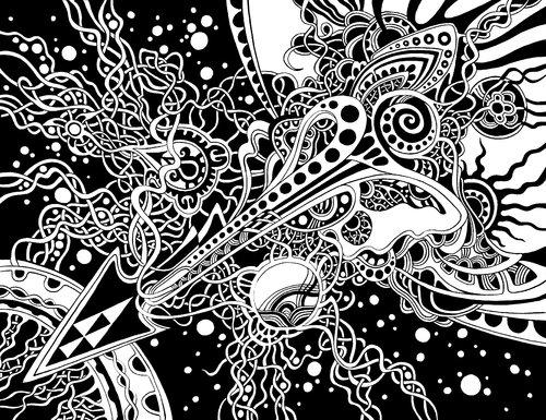 Univers Dayva Achikhman Work on paper