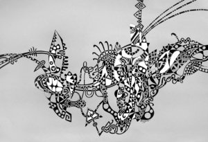ABSTRACTION Dayva Achikhman Zeichnungen Füller auf Papier