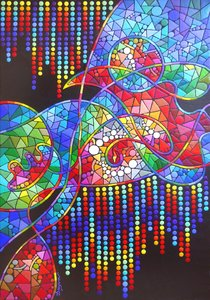 Méditation Dayva Achikhman Peinture Acrylique sur Toile
