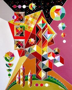 Maison Dayva Achikhman Peinture Acrylique sur Toile