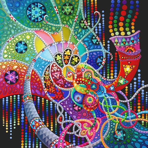 Méduse Dayva Achikhman Peinture Acrylique sur Toile