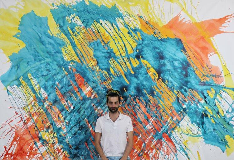 GAME OF COLORS von Ángel Moyano Rivas (2019): Malerei Acryl auf Leinwand -  Singulart