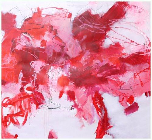 Explore the Colours: Red II (Monochrome Series) Daniela Schweinsberg Peinture Acrylique sur Papier