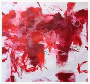 Explore the Colours: Red I (Monochrome Series) Daniela Schweinsberg Peinture Acrylique sur Papier