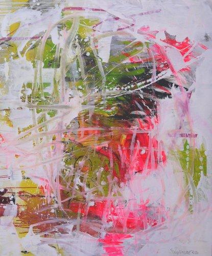 Always a good Girl Daniela Schweinsberg Peinture Acrylique, Collage sur Toile