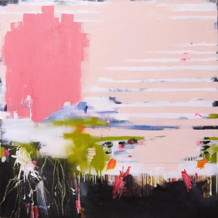 Urban Views: Gardening Daniela Schweinsberg Painting Acrylic, Collage, Charcoal, Spray paint on Canvas