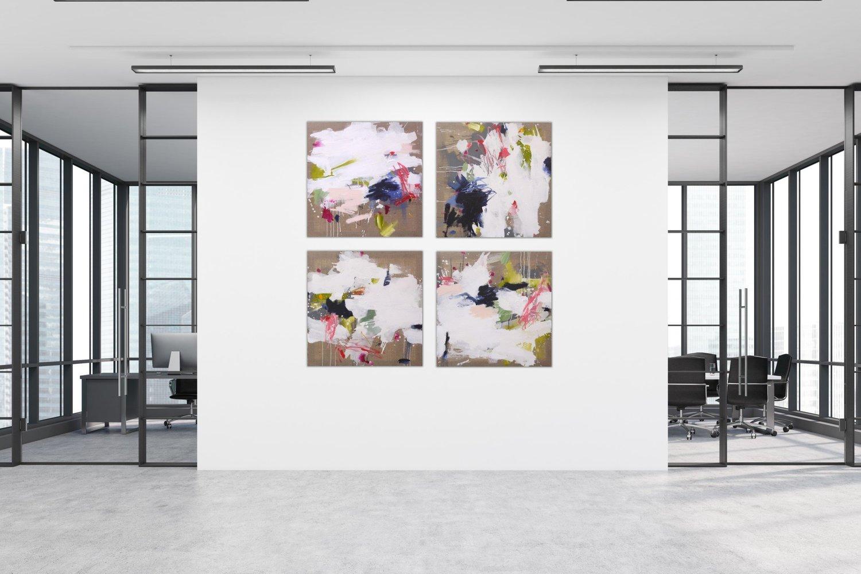Shine Through IV von Daniela Schweinsberg (2018): Malerei Acryl ...