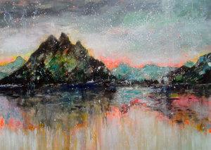 Reflection Tanja Vetter Peinture Acrylique, Huile sur Toile