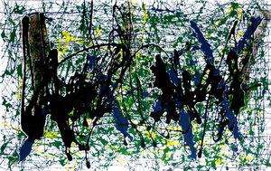 Vibrations Rémi Delaplace Peinture Graffiti sur Papier