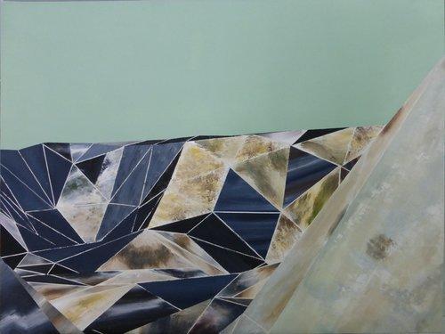 Un intérieur si étrange qu'il paraît lointain Rémi Delaplace Peinture Acrylique sur Toile