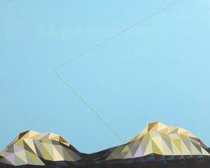 Mountain Rémi Delaplace Peinture Acrylique sur Toile