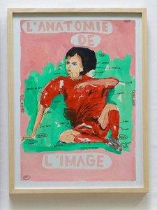 L'anatomie de l'image Ugo Li Papierarbeit Öl auf Papier