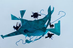 To be honest, crashed plane is about crashed plane F@ Dragan Djordjevic Painting Watercolor