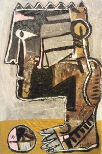Genius Stefanos Folinas Peinture Acrylique sur Toile
