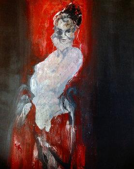 flo red back ground Alain Gegout Peinture Acrylique sur Toile