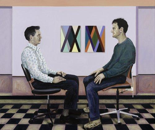 Ben + Martin Gela Samsonidse Malerei Öl auf Leinwand