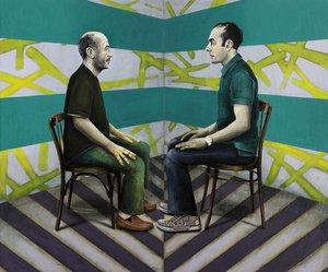 Guram + Gela Gela Samsonidse Malerei Öl auf Leinwand