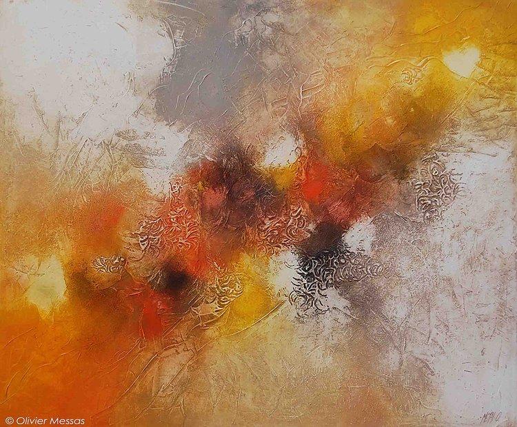 Désert de sable... Olivier Messas Peinture Acrylique, Huile, Collage sur Toile