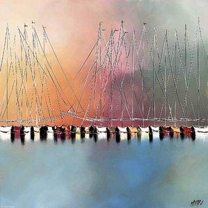 Un nouvel horizon... Olivier Messas Peinture Acrylique, Huile sur Toile