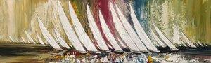Liberté en mer... Olivier Messas Painting Acrylic, Oil on Canvas
