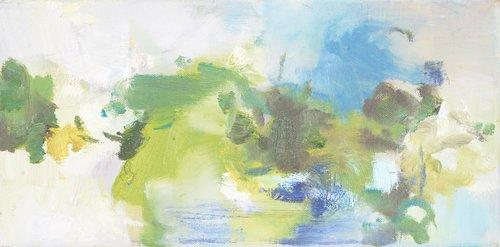 Kleine Landschaft Beate Köhne Malerei Öl auf Leinwand