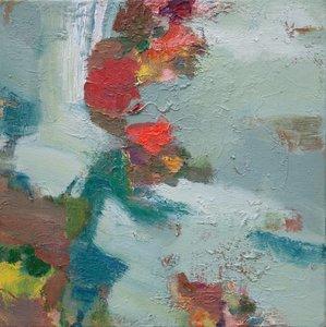 Rotblühend Beate Köhne Malerei Öl auf Leinwand