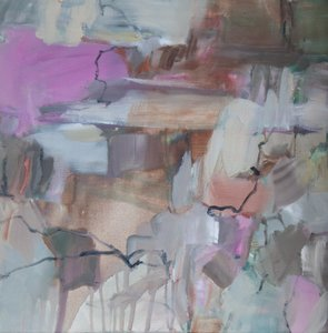 Schichtung (Pink) Beate Köhne Painting Oil on Canvas
