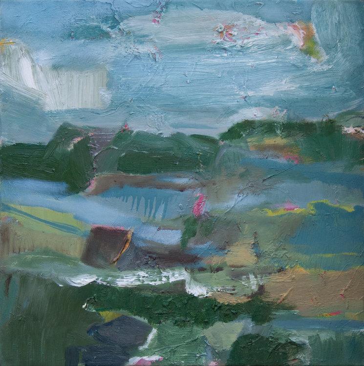 Landschaft (Rudow) IV by Beate Köhne (2012) : Painting Oil on Canvas -  Singulart