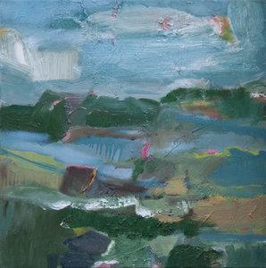 Landschaft (Rudow) IV Beate Köhne Malerei Öl auf Leinwand