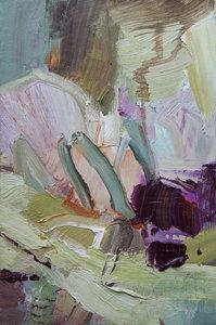 Kleine Blumen II Beate Köhne Malerei Öl auf Leinwand