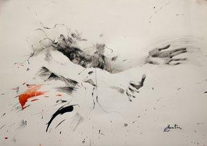 Danse Ewa Hauton Painting Charcoal, India ink on Paper