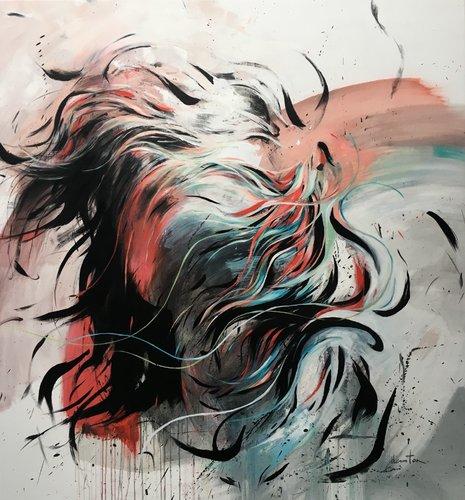 Dans le vent Ewa Hauton Peinture Huile, Pastel sur Toile