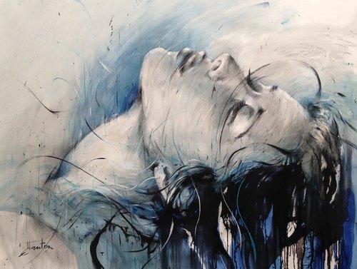 En surface Ewa Hauton Peinture Huile, Crayon sur Toile