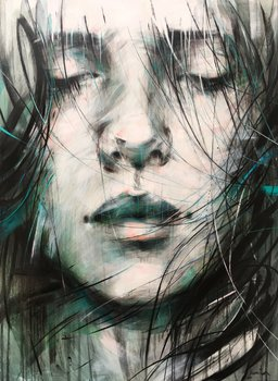 Sky is the limit Ewa Hauton Painting Oil, Charcoal on Canvas