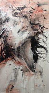 Tocade Ewa Hauton Painting Oil, Pencil on Canvas