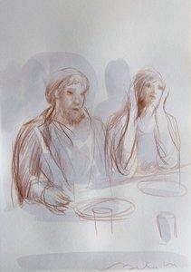 L'Ancien Testament 2 Frédéric Belaubre Dessin Crayon sur Papier