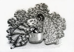 Double, double toil and trouble; fire burn and caldron bubble Alexandra Müller Drawing Pencil on Paper