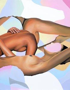 Between the Sheets Megan Archer Malerei Öl auf Leinwand
