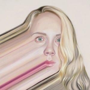 Self Portrait with Glitch Megan Archer Malerei Öl auf Leinwand